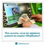 Что делать, если не пришли деньги на карту Сбербанка