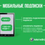Как отключить смс на Мегафоне
